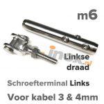 m6 L schroefterminal+gaffel A4