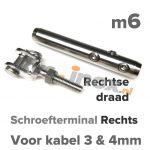 m6 R schroefterminal+gaffel A4