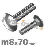 m8x70mm DIN 603 A2