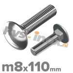 m8x110mm DIN 603 A2