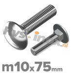 m10x75mm DIN 603 A2