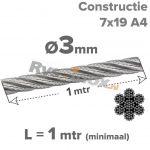 3mm / L 1mtr (7x19) A4
