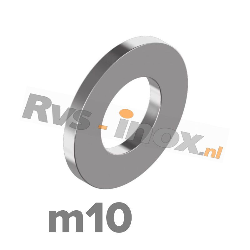 m10 | Rvs vlakke sluitring DIN 125A Roestvaststaal A2 | DIN 125A A2 M 10 Washer type A