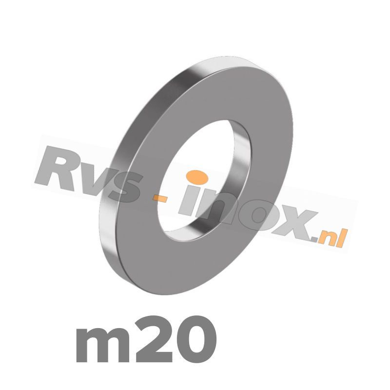m20 | Rvs vlakke sluitring DIN 125A Roestvaststaal A2 | DIN 125A A2 M 20 Washer type A