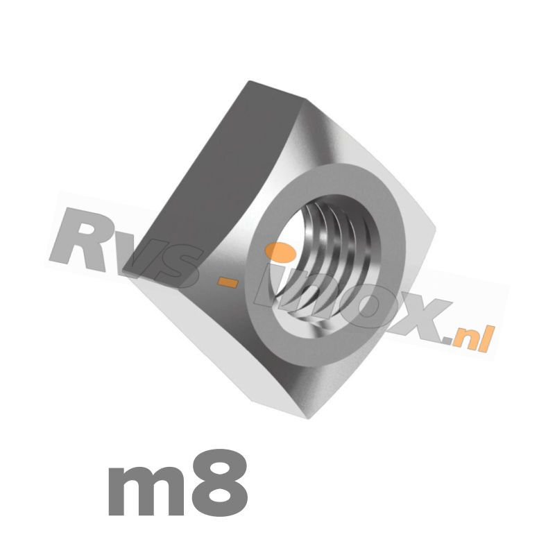 m8   Rvs vierkantmoer DIN 557 Roestvaststaal A2   DIN 557 A2 M 8 Square nuts