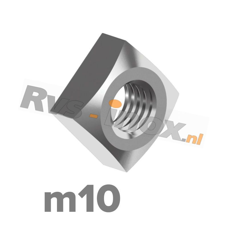 m10 | Rvs vierkantmoer DIN 557 Roestvaststaal A2 | DIN 557 A2 M 10 Square nuts