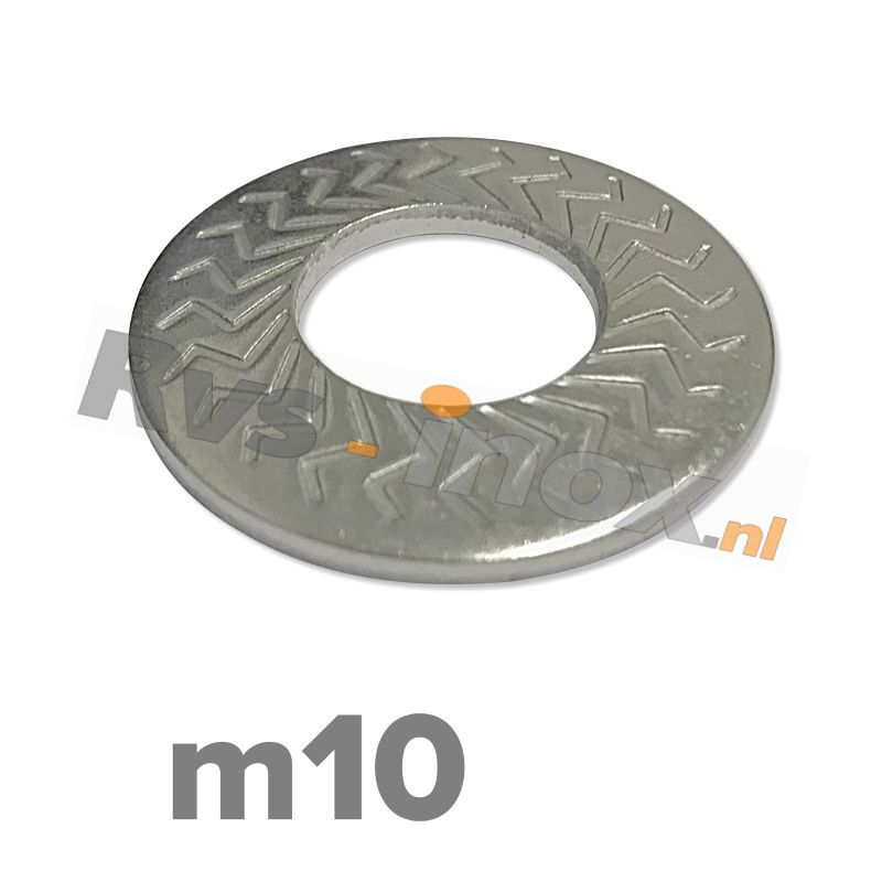 m10 | Rvs borgschotelveerring Art. 9217 Roestvaststaal A2 | M 10 Z-type serrated conical spring washers type M