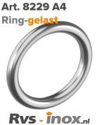 Rvs ring - Art. 8229 A4 | Rvs-inox.nl
