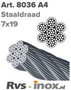 Rvs staaldraad 7x19 ( soepel ) | Rvs-inox.nl