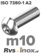 ISO 7380-1 A2 - m10 | rvs laagbolkopschroef | Rvs-inox.nl