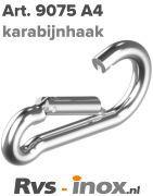 Rvs karabijnhaak - Art. 9075 A4 | Rvs-inox.nl
