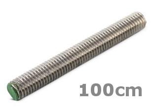 Rvs draadeind lengte 100cm DIN 976 A2
