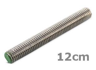 Rvs draadeind lengte 12cm DIN 976 A2