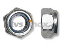 DIN 985 Rvs zelfborgende zeskantmoer kunststof ring